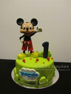 Doces Opções: O Mickey no 1º aniversário do Gonçalo