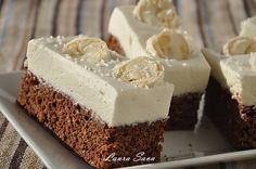Čokoládová torta s kokosovým krémom Romanian Desserts, Romanian Food, Dessert Drinks, Fun Desserts, White Chocolate Cupcakes, Chocolate Cake, Cake Recipes, Dessert Recipes, Square Cakes