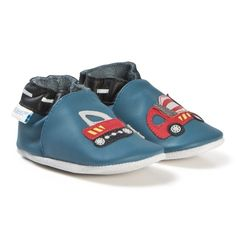 a4742e3ecab02 Robeez Soft Soles™ Leather Crib Shoes Handy Boy Blue Denim Blue