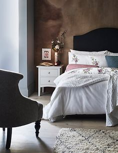 Buy the Hastings Ivory Bedside Table from Marks and Spencer's range. Bedside Chest, Bedside Cabinet, Embroidered Bedding, Chrome Handles, Sofa Shop, Stylish Bedroom, Home Living Room, Storage Spaces, Bedroom Decor