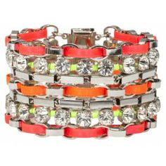 Multi Colour Bracelet with Swarovksi Crystals shop online  http://www.dazzlingjewellery.net/shop/product.php?id_product=1085