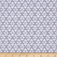 Kanvas Knitty Kitty Diamond Knit Gray from @fabricdotcom  Designed by Greta Lynn for Kanvas in association with Benartex, this cotton print is perfect for quilting, apparel, and home decor accents. Colors include shades of grey.