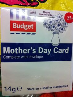 Tesco Mother's Day Card