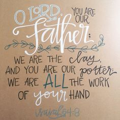 Isaiah 64:8 word art on wood by laurenish design