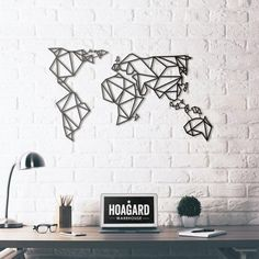 Metal Deco - World Map - Hoagard.com