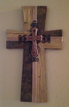 Handcrafted Wooden Cross by TheLaziDaizy on Etsy, $25.00