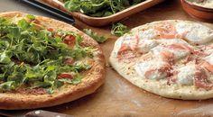 Pizzas with Prosciutto, Arugula, and Mozzarella Recipe by Jamie Purviance