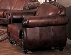 possibly my new reading chair Log Cabin Furniture, Rustic Wood Furniture, Rustic Chair, Western Furniture, Leather Furniture, Unique Furniture, Office Furniture, Furniture Design, Log Home Interiors