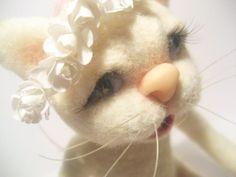 Needle felted cat  Eco friendly felted toy made to by feltstories, $150.00