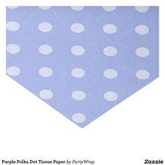 """Purple Polka Dot Tissue Paper 10"""" X 15"""" Tissue Paper"""
