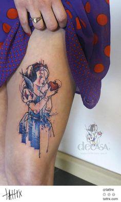 Water Color Tattoo (408) Carola Deutsch - Snow White