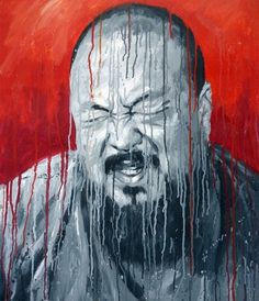 Sheng Qi's dynamic portrait of his friend and art colleague, Contemporary Chinese artist Ai WeiWei