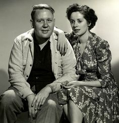 Elsa Lanchester and Charles Laughton . . married from 1929 till his death in 1962