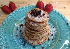 Kamut pancakes with coconut and orange juice!