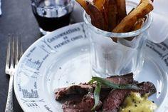 Steak frites med bernaise