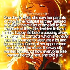 woah I finally get why the anime is called Your Lie in April CRedit @animetweetz