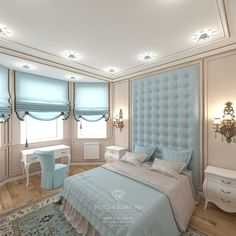 House design in residential complex Rublevo Residence inside. Photo of interiors House interior design from Ruslan and Maria Green. Room Design, Bed Design, Elegant Homes, Bedroom Closet Design, Bedroom Interior, Luxurious Bedrooms, Home Decor, Home Interior Design, Classic Bedroom