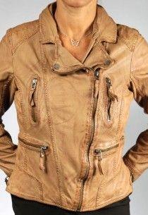 Veste cuir camel femme oakwood