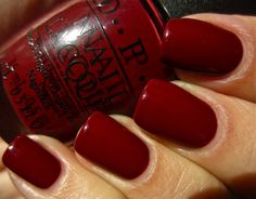 "Polishes I Own OPI ""Skyfall"" - Part of the James Bond collection. An exquisite maroon creme. It was perfect for my Thanksgiving manicure. Opi Nail Polish, Opi Nails, Nail Polish Colors, Nail Polishes, Shellac, Cute Nails, Pretty Nails, Oxblood Nails, Opi Colors"