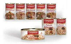 Gama Platos Preparados Campanal. Diseño de packaging para gama de productos Fabada Asturiana y Platos Tradicionales Campanal. También se realizó la nueva imagen corporativa de la marca.