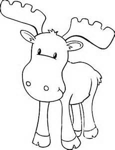 printable coloring page moose for kids Craft Ideas Pinterest