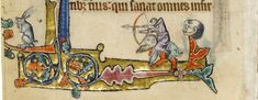 Macclesfield Psalter, England ca. 1330. Cambridge, Fitzwilliam Museum - folio 143v - The Archer