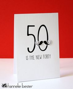 50 is the new 40 birthday card