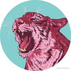 Magenta tiger by Roland Bánrévi