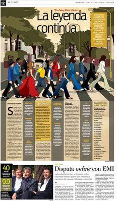 Abbey - J. Ángel Muñoz. Bonita forma de convertir un apso de peatones en marcos de texto.