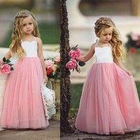 Wish | Girls Princess Net Yarn Dress Kids Little Girls Party Wedding Bridesmaid Tutu Dress