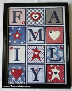 """I will be making one or two of these. Perfect for my living room. Indiana Inker:  Americana """"FAMILY"""" Frame"""