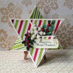 Star-shaped card tutorial made by Ivy paper: A Time4Joy #4