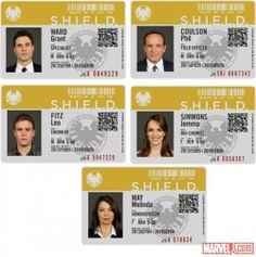 """""""His first name is Agent."""" – Tony Stark Scope out the declassified badges featuring the stars of the upcoming Marvel's Agents of S. series on ABC Tuesday nights this fall! Marvel 3, Marvel Memes, Marvel Comics, Marvel Gifts, Tony Stark, Heros Comics, Melinda May, Fitz And Simmons, Upcoming Series"""