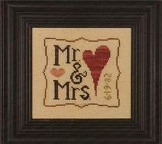 Wee One: Mr & Mrs Cross Stitch Pattern (12-1846) Embroidery Patterns by Heart in Hand