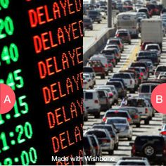 whats worse? being in traffic or a delayed plane Click here to vote @ http://getwishboneapp.com/share/2399498