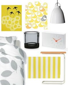 gray and yellow bedroom ideas | Liked the calming greys and yellow ochres. Credit: Nestled In