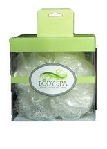 Body Spa - White Loufa with Built In Vibrating Massager
