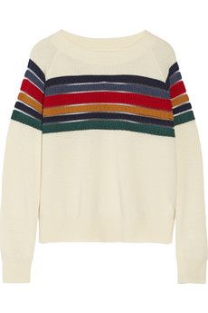 Band of Outsiders Striped wool sweater | NET-A-PORTER