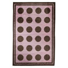 Option for Jellybeans room Mohawk Brown Dot Rug in Pink