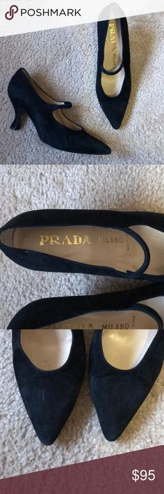 Suede Prada Milano Pumps Beautiful authentic Prada Milano Suede Pumps in good pre owned condition. Some signs of light wear please see pictures. Thank you Prada Shoes Heels