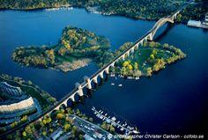 Stockholm Årsta Bridge from abowe