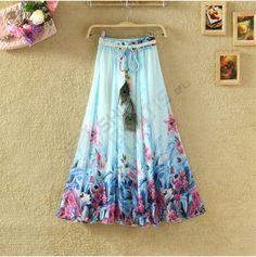 Leciutka długa spódnica na wiosnę i lato - 22 warianty