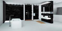 Taking your bathroom from nightmare-inspiring to downright dreamy. Modern Baths, Beautiful Bathrooms, Bathroom Furniture, Bathroom Inspiration, Minimalism, Bathtub, Contemporary, Design
