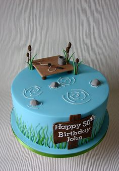 Brilliant Image of Fishing Birthday Cake Fishing Birthday Cake Johns Fishing Themed Birthday Cake Cupcakes Cake Fish Cake Homemade Birthday Cakes, Cupcake Birthday Cake, Adult Birthday Cakes, Birthday Cakes For Women, Themed Birthday Cakes, Themed Cakes, Cupcake Cakes, Fishing Birthday Cakes, 50 Birthday