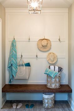 Small Mudroom. Small mudroom nook. #SmallMudroom #mudroom #nook mudroom-small-mudroom-nook-small-mudroom-nook-wall-with-hooks Hendel Homes.  Vivid Interior Design - Danielle Loven.