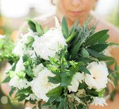 Ivory and green bouquet by Sweet Marie Designs, Photo by Ashley Kelemen Photography