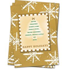 Printable Christmas Card Design Free matching Gift Tags by MamaMushika