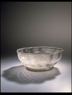 Bowl   Venice, [Italy] (made)  Date: 1575-1625 (made)  Artist/Maker: Unknown (production)  Materials and Techniques: Filigree mould-blown glass