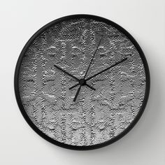 Embossed metal graphic wall clock design by Khoncepts.com