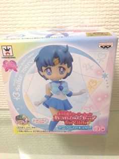 Sailor Moon Sailor Marcury Figure Atsumete for girl 1 Ami Mizuno Kawaii anime